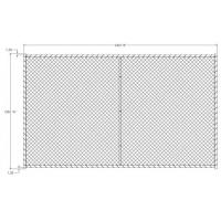 Cheap 6x10 foot temporary chain link fence panels vertical brace 2.25 x 2.25 inch mesh 60mm x 60mm x 3.00mm diameter for sale