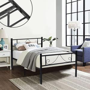 Cheap OEM Black Steel Furniture Bed Multiple Sizes Rust Proof Popular Design for sale