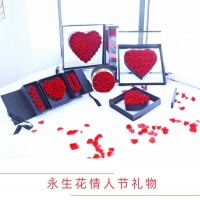Cheap Wholesale Valentine Gifts preserved flower box logo preserved rose in acrylic gift box for sale