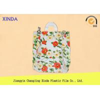 Cheap High-Density 30*40cm die cut handle strong medium orange bags for snack gift pack for sale