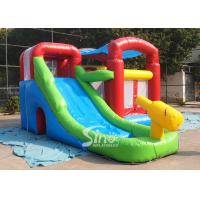 Cheap Kids inflatable combo water bounce house with pool N water gun made of best pvc tarpaulin for sale