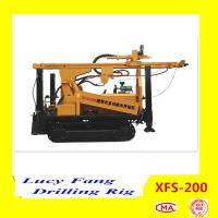 Cheap China Hot Multi-function XFS-200 Mobile Hydraulic RC Core Sampling Drilling Rig with 200 m for sale