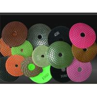 China 5 '' Or 4 Inch Diamond Polishing Pads For Granite And Marble / Wet Pad on sale