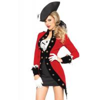 Cheap Military Red Coat Womens Sexy Costumes  Halloween Party Dress for sale