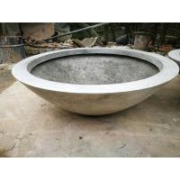 Hot Sale Factory Sales Durable Round Outdoor Garden Fiberglass Cement Flower