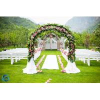 Buy cheap Handmade Wedding Arch Decorations , Faux Blossom Trees With Green Leaf from wholesalers