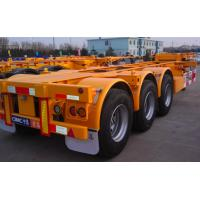 Cheap 20ft Or 40ft Flatbed Container Semi Trailer CIMC Skeleton Single Tire for sale