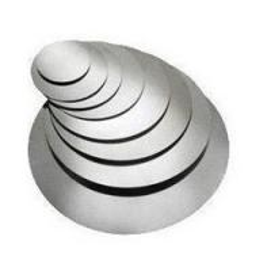 Cheap Cookware Hot Rolled Aluminium Circles / Aluminium Discs H22 H14 H16 Temper for sale