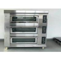 Cheap Stainless Steel Baking Oven 3 Deck 9 Trays Electric / Gas Deck Oven for sale