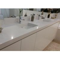 White Artificial Stone Bath Vanity Tops With Sink Eased Edges