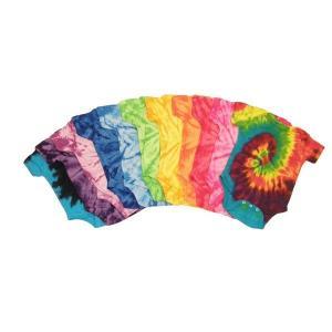 Cheap Colorful Cute Newborn Baby Clothes Unique Boutique Baby Tie Dye Romper for sale