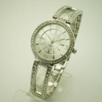 China Ladies Jewelry Bracelet Watch siliver with diamond on strap Alloy strap on sale