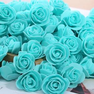 Cheap 500pcs/bag Foam Rose Head 3.5cm Artificial Flower for DIY Making Rose Bear Top Quality for sale