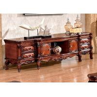 Cheap luxury carved wood living room furniture classic tv stand for sale