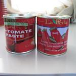 Cheap Delicious tin Tomatoes tomato paste for good taste tomato paste 400g with brix 28-30% for sale