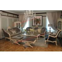 Cheap French-type Furniture made by Wooden Carving Frame with Upholstery Sofa Set for sale