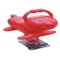 Cheap Red Whale Style Playground Spring Animals , Plastic Playground Spring Rocker for sale