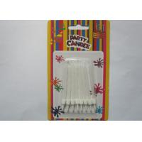 White Flameless Spiral Birthday Candles White Cake Decoration With Holders Manufactures