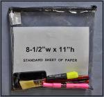 Cheap Clear PVC sercurity bag for sale