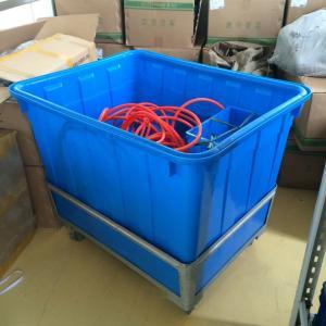 Cheap 300L Large cheap plastic Laundry garment crates container for sale