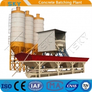 Cheap Skip Hopper Feeding System HZS25 Concrete Batching Plant for sale