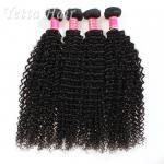 Cheap Kinky Curly Burmese Virgin Hair Bundles , No Tangle Real Wavy Hair for sale