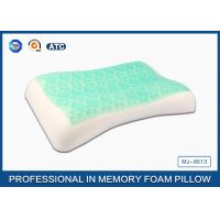 High Density Soft Sleep Memory Foam Cooling Gel Pillow With White Washable Cover