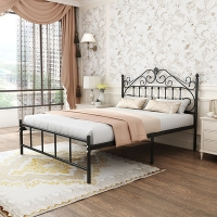Buy cheap School Iso14001 Iso18001 Wrought Iron Queen Platform Bed from wholesalers
