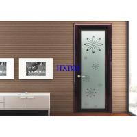 Cheap Pressure Resistant Internal Glazed Doors , Townhouses Interior Doors With Glass for sale