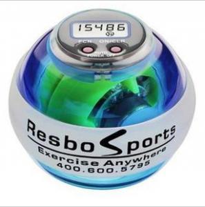 Cheap Newest LED light & Speed Meter Power Ball Gyroscope Wrist Strengthener Ball +speed meter Power Grip Ball for sale