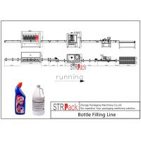 Automatic Bottle Filling Line 2000-5000 BPH Capacity For Toilet Cleaner Liquid