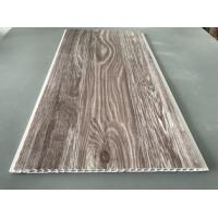 Cheap Recyclable Brown PVC Wood Panels As Ceiling Covering 7.5mm Thickness for sale