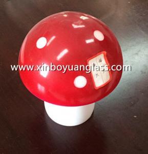 Deco red Glass Mushroom Lamp Shade