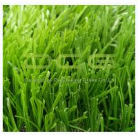 Natural Looking Synthetic Artificial Grass / Artificial Turf Football Fields S Shape