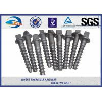 Railway sleeper fixing screws Black Oxide ISO 24 Dia 160 Length SS8 Manufactures