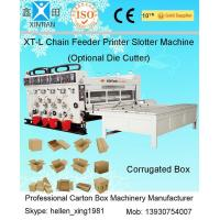 Cheap Pneumatic Locking Automatic Lubrication Carton Printing Slotting Machine With Gear Pumps for sale