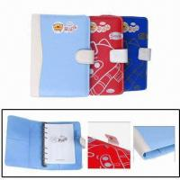Cheap Leather Organizer Notebooks, Made of PU, with Button Closure and Ring Binder for sale