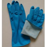 Cheap Dipped Cotton Lining Rubber Kitchen Cleaning Gloves for sale