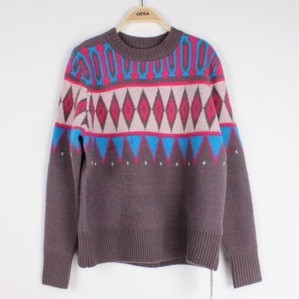 Aran Christmas Jumper Knitting Pattern : Casuel Jacquard Sweaters For Women Aran Christmas Knit Jumper Knit Pattern fo...