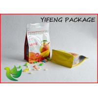 Cheap Side Gusseted Flat Bottom Bag With Pocket Zipper For Food Packaging for sale