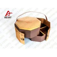 Cheap Golden Coated Customized Cardboard Gift Boxes With Lids CMYK Printing for sale