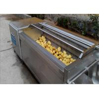 Cheap Durable Wheels Potato Washing Machine Continuous Cleaning For Hotels Easy To Move for sale