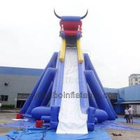 Quality Large Inflatable Dino Slide Double Long Inflatable Slide At Amusement Park Games wholesale