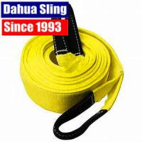 Buy cheap 90mm Width Polyester 8T Recovery Tow Straps Towing Rope With Reinforced Loops from wholesalers