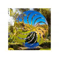 Cheap 200 Cm Diameter Mirror Polished Windmill Sculpture Stainless Steel For Garden for sale