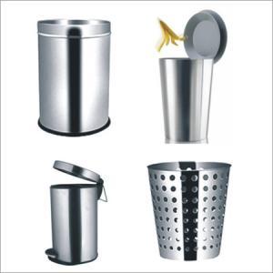 Cheap 2012 decorative metal trash bin & trash can for sale