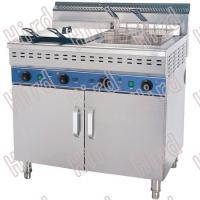 Cheap CE Commercial Electric Deep Fryer with Cabinet High Power Fryer On Cabinet 2 x 48 L for sale