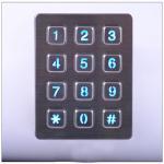 Stainless steel metal backlit keypad,digital keypad lock Manufactures