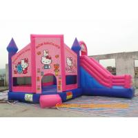 Cheap Customized Outdoor Playground Inflatable Bouncy Castle , Inflatable Hello Kitty  Bouncer For Rent for sale