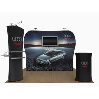 Cheap 20 Feet Tension Fabric Exhibition Stands Fabric Tube Display Weather Resistant for sale